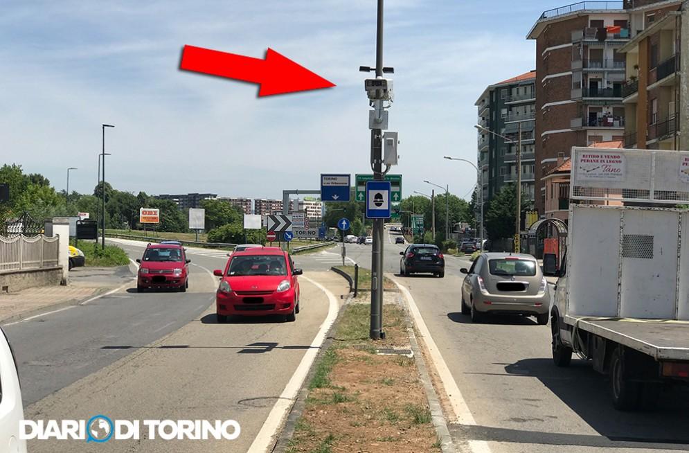 Nuovo autovelox a Beinasco in strada Torino