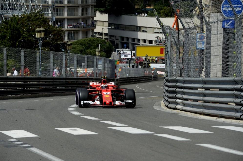 Kimi Raikkonen sul circuito cittadino del Gran Premio di Monaco