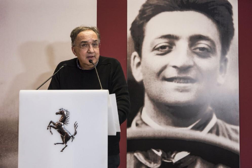 Sergio Marchionne all'inaugurazione delle due nuove mostre