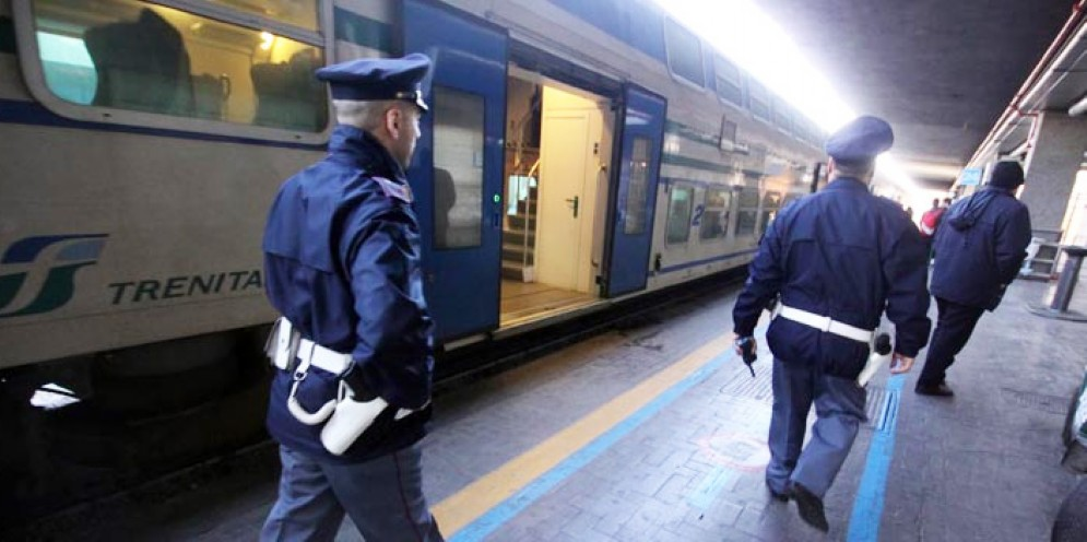 Gli uomini della Polizia Ferroviaria