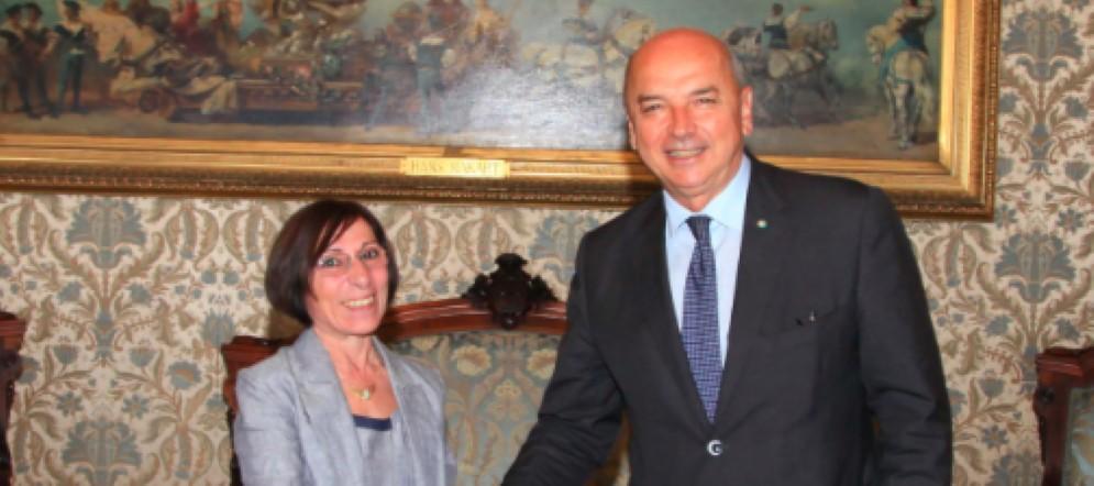 Il sindaco Roberto Dipiazza ha ricevuto la dottoressa Nicolina Cavallaro