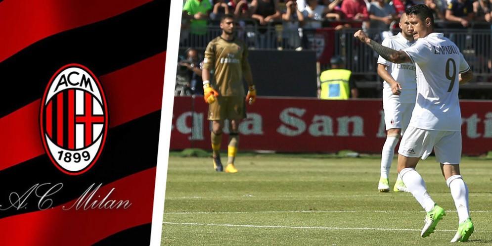 Il gol del momentaneo pareggio di Lapadula