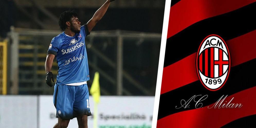 Franck Kessie, centrocampista dell'Atalanta e della Costa d'Avorio, in procinto di passare al Milan