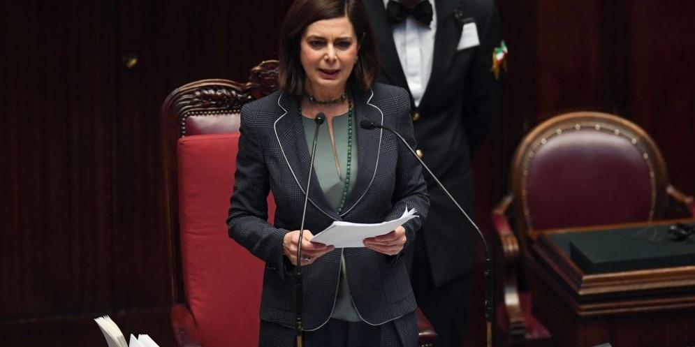 Laura Boldrini, presidente della Camera.