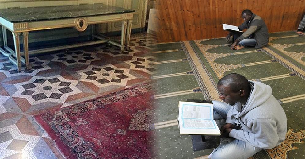 Tradizionale tappeto della preghiera - Moschea di via Saluzzo