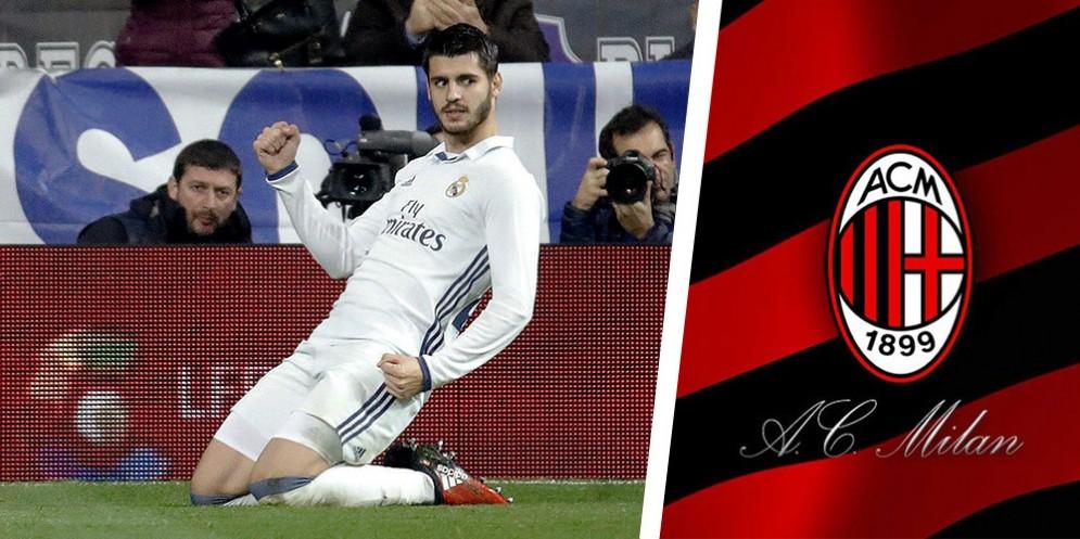 Un'esultanza tipica di Alvaro Morata