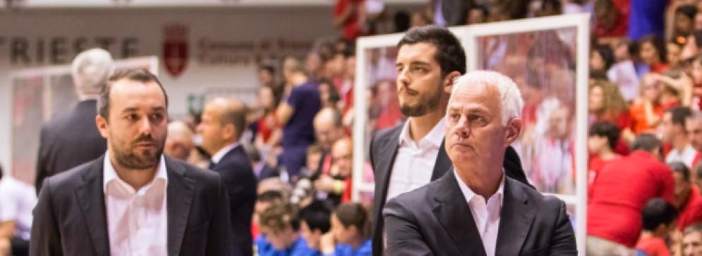 Il coach di Alma Trieste, Eugenio Dalmasson
