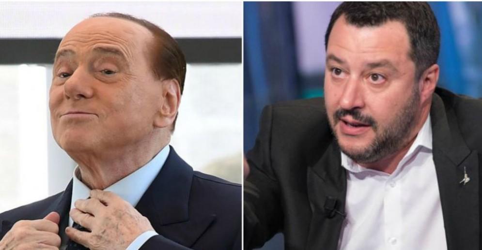 Silvio Berlusconi e Matteo Salvini.