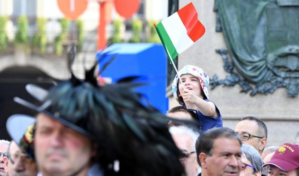 Festa della Repubblica Italiana in Piazza Castello, Torino, 2 Giugno 2017