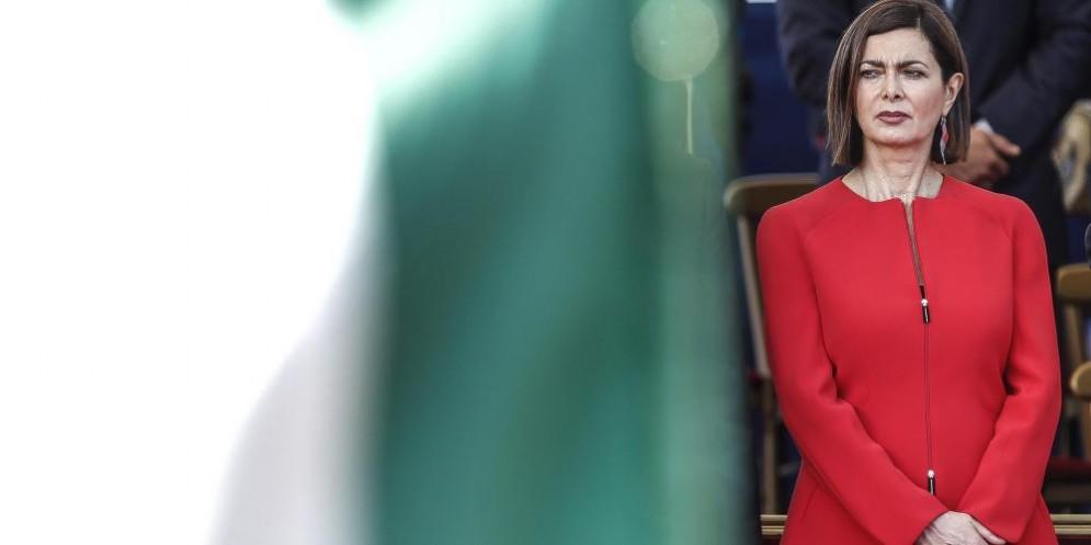 La presidente della Camera Laura Boldrini alla Parata del 2 giugno