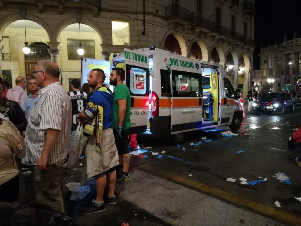 Panico in piazza San Carlo