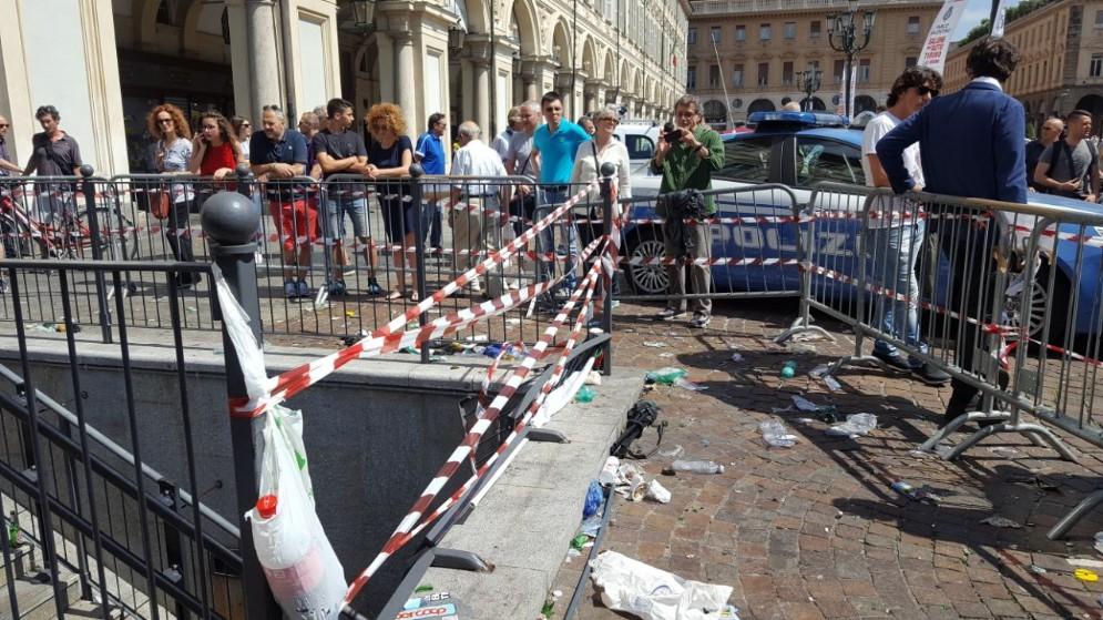 Piazza San Carlo il giorno dopo