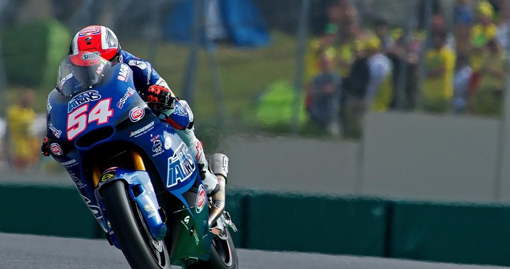 Mattia Pasini in azione nel Gran Premio d'Italia