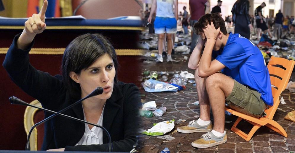 Chiara Appendino è stata attaccata dalla minoranza per la gestione dei fatti in piazza San Carlo