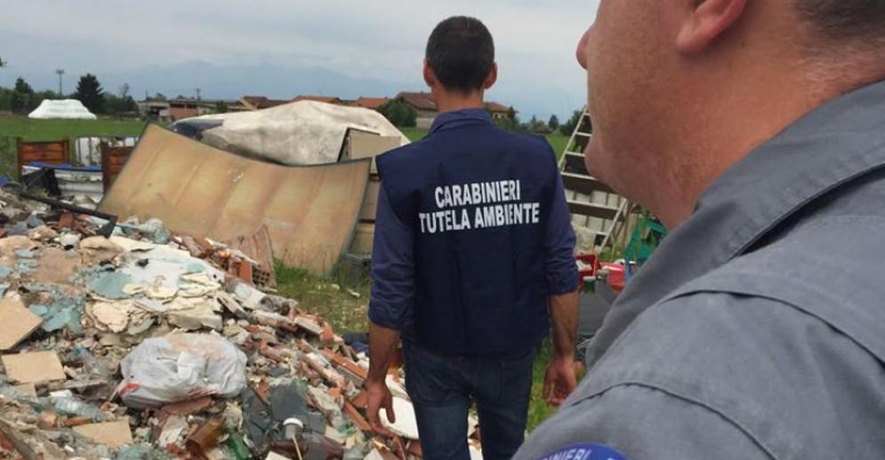 L'intervento dei carabinieri tutela ambiente