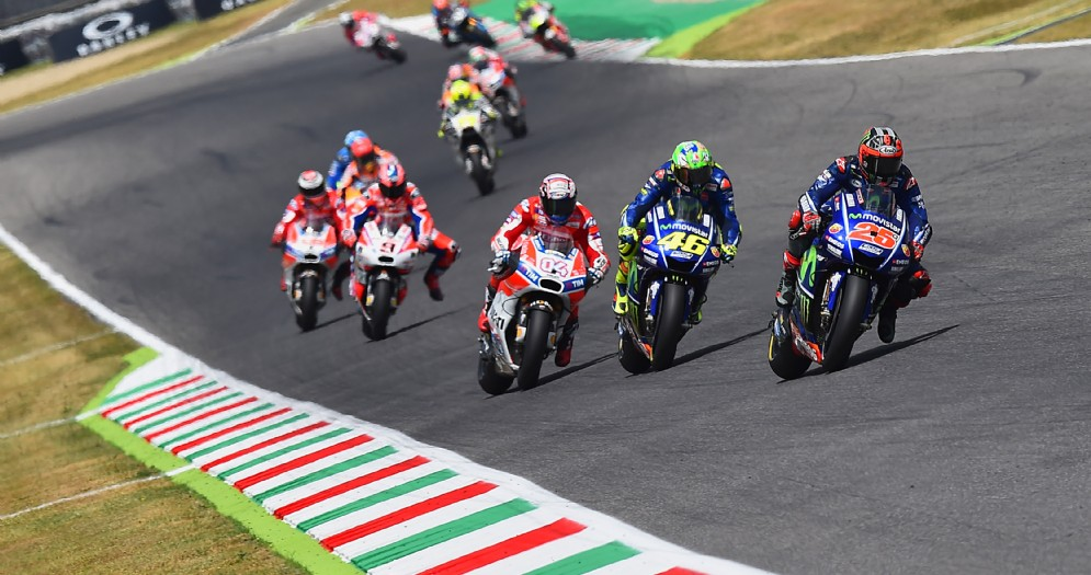 Il gruppo della MotoGP nell'ultimo Gran Premio al Mugello