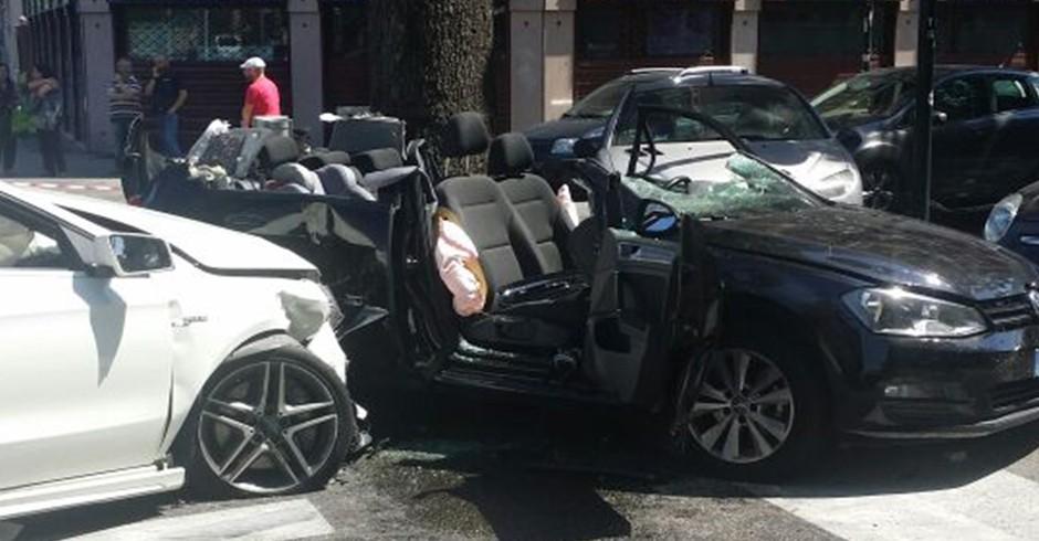 Incidente stradale in corso Turati