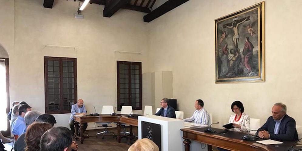 Sara Vito (Assessore regionale Ambiente ed Energia) alla riunione sulla sicurezza idraulica del Bacino del Livenza, in Municipio