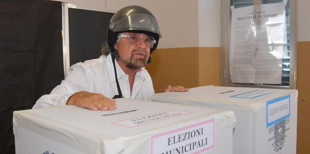 Il leader M5s Beppe Grillo