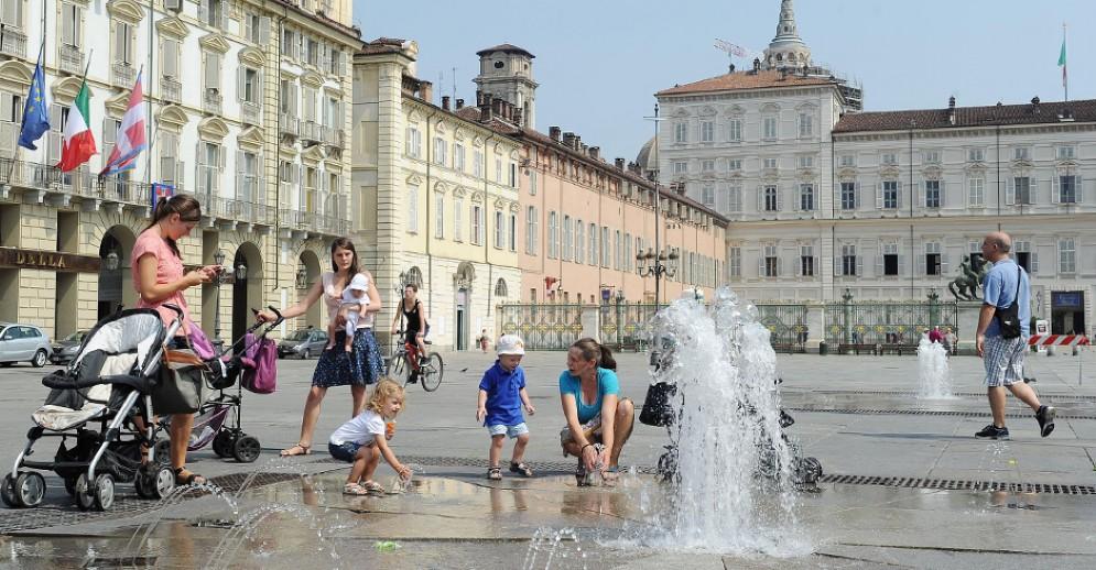 Ondata di caldo africano a Torino