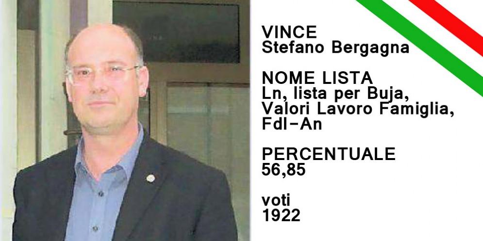 Stefano Bergagna si conferma sindaco di Buja