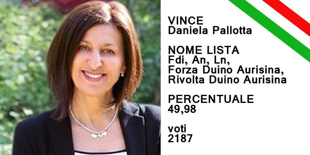 Daniela Pallotta è il nuovo sindaco di Duino Aurisina