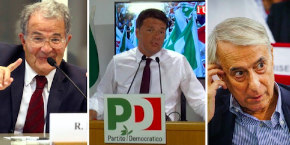 Romando Prodi, Matteo Renzi e Giuliano Pisapia