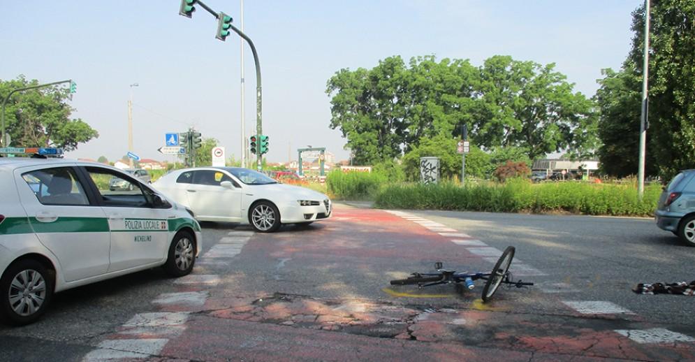Incidente stradale a Nichelino
