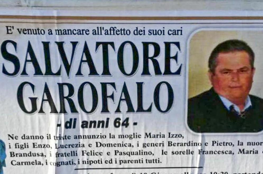 Salvatore Garofalo, morto mentre gli abbattevano la casa