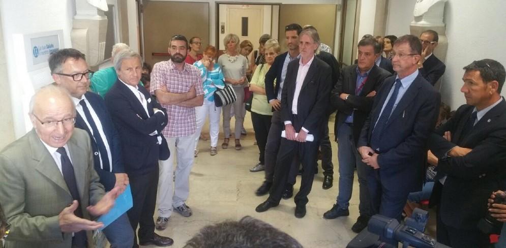 Tanti i presenti ieri all'inaugurazione delle prime due strutture del progetto Case della Salute