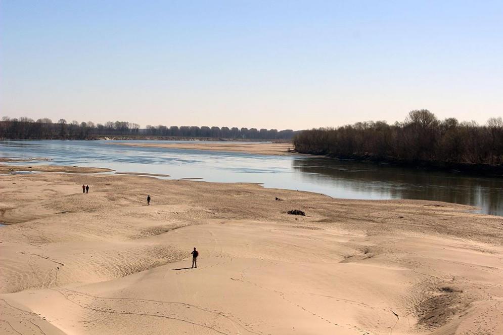 Siccità, il fiume Po ai minimi storici