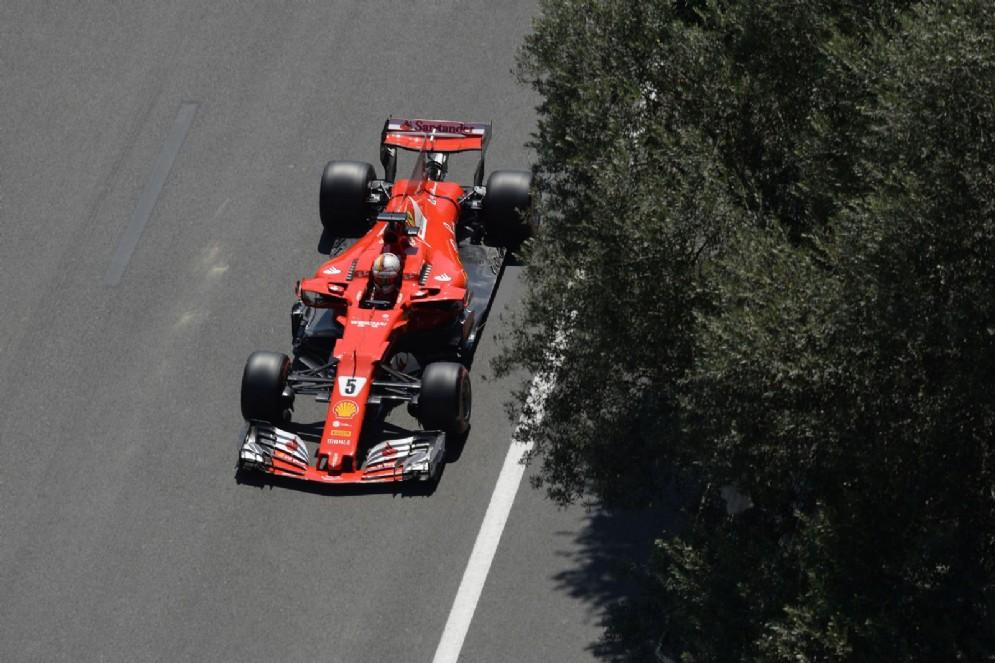 Vettel ha portato la sua Ferrari al quarto posto nelle qualifiche in Azerbaigian
