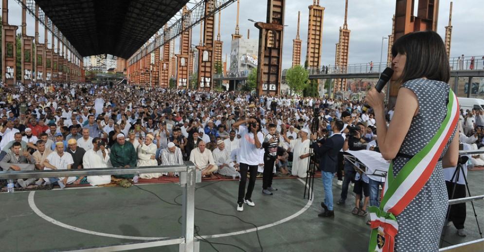 La sindaca Appendino alla festa che chiude il Ramadan