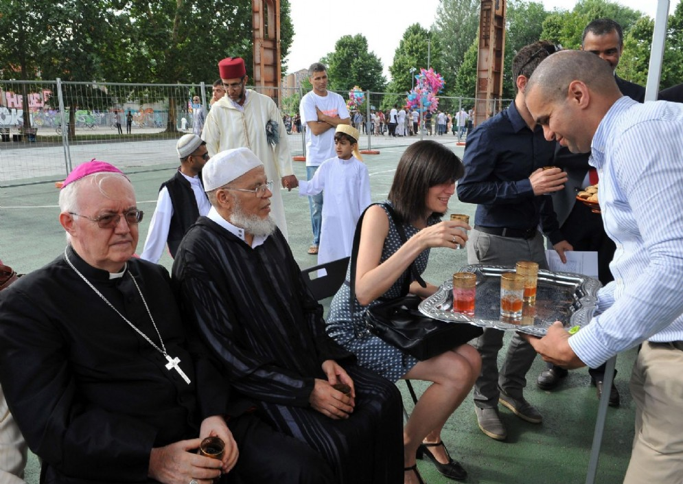 Chiara Appendino e l'arcivescovo di Torino, Cesare Nosiglia