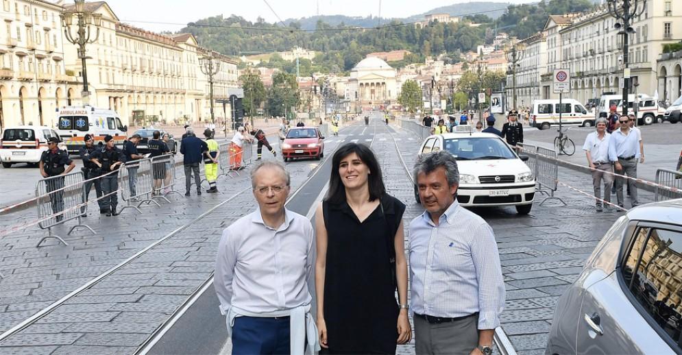 Sindaca, Prefetto e Questore in piazza Vittorio prima dei fuochi di San Giovanni