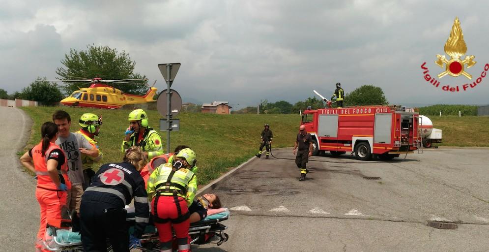 Hanno partecipato ai soccorsi anche uomini e mezzi del 118