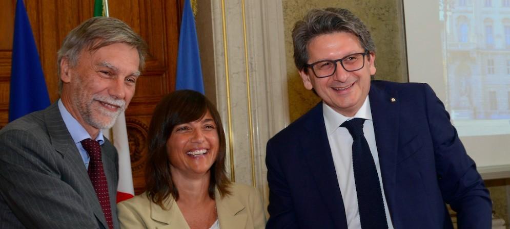 Delrio, Serracchiani e D'Agostino