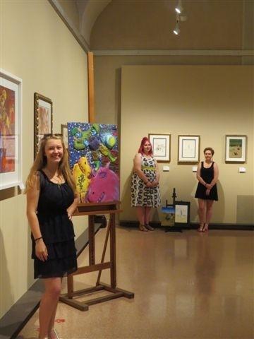 Domenica 25 giugno le opere dei ragazzi sono state esposte accanto ai dipinti scelti e presenti nel museo