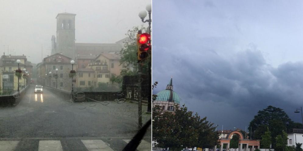 Da Pradamano a Cividale pioggia e grandine: già alcuni paesi sott'acqua