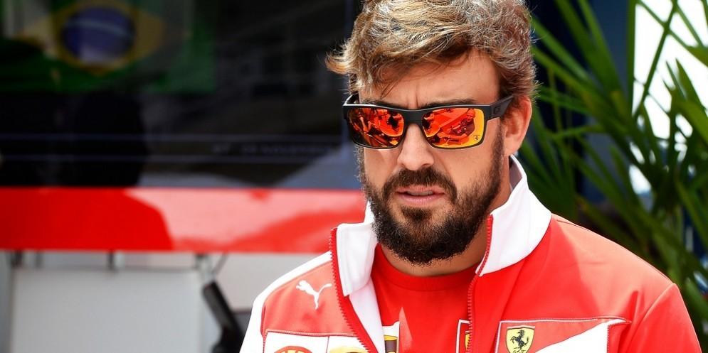 Fernando Alonso ai tempi in cui era pilota Ferrari