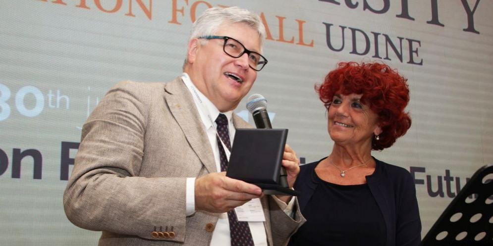 Il ministro Fedeli a Udine con il rettore De Toni