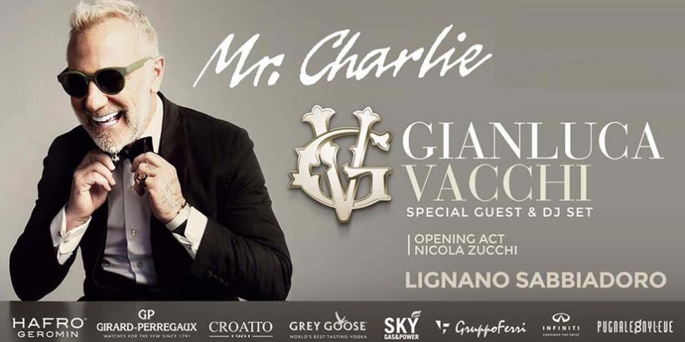 Gianluca Vacchi al Mr.Charlie di Lignano