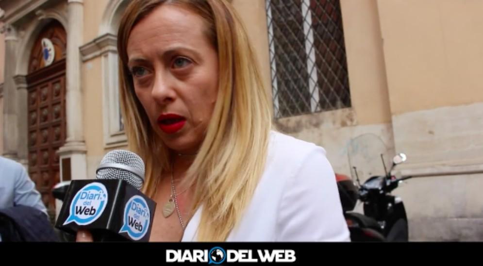 La leader di Fratelli d'Italia, Giorgia Meloni