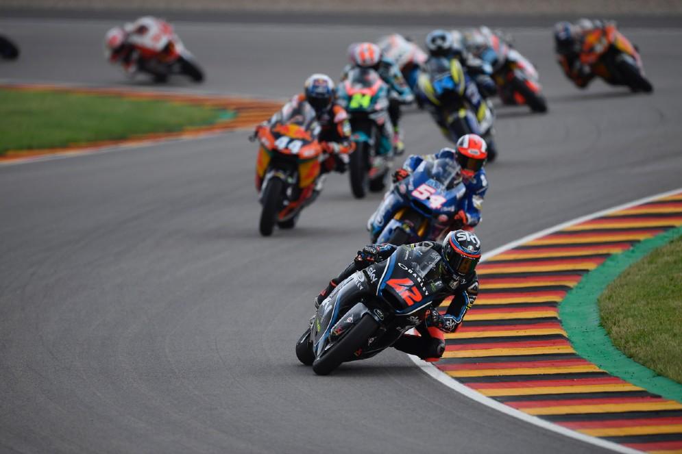Bagnaia in lotta durante il Gran Premio di Germania