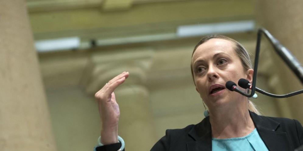 La leader di FDI Giorgia Meloni