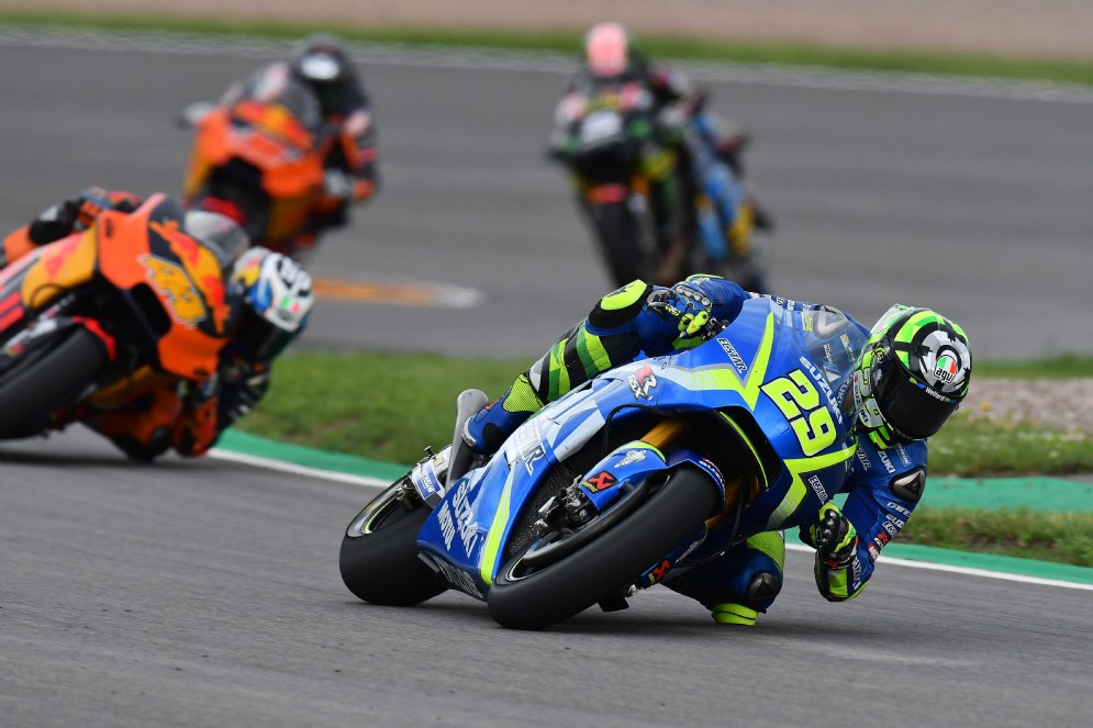 Iannone in lotta nel Gran Premio di Germania