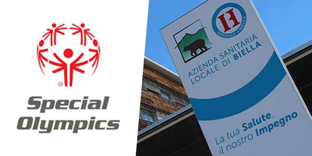 Loghi dei giochi Nazionali estivi Special Olympics e dell' Asl di Biella
