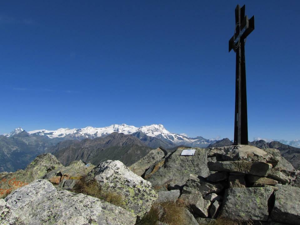 La cima del Monte Cresto (2.548 m)