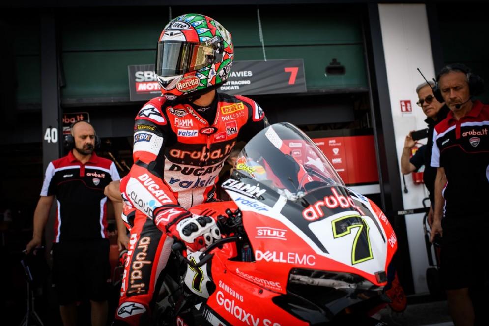 Davies in sella alla sua Ducati Panigale R