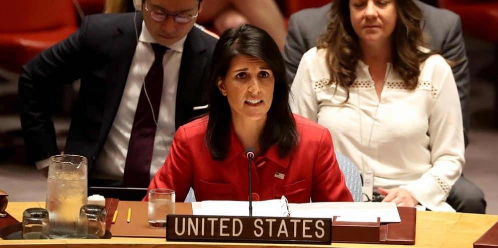 L'ambasciatrice Haley al Consiglio di Sicurezza Onu